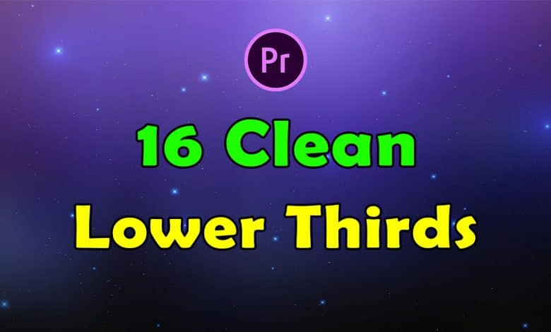 16 Clean Lower Thirds for Premiere Pro