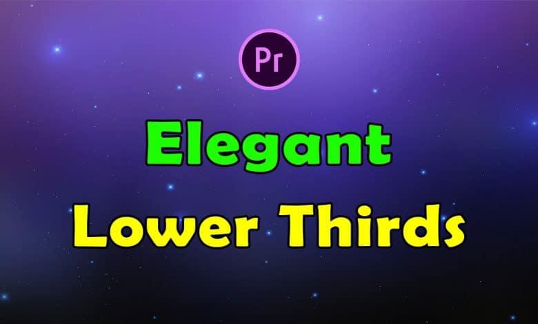 16 Elegant Lower Thirds for Premiere Pro