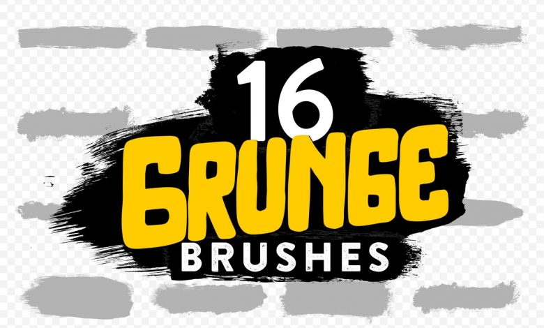 16 Grunge Brushes for Photoshop