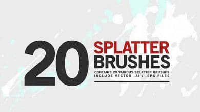 Photo of [Illustrator] 20 Splatter Brushes