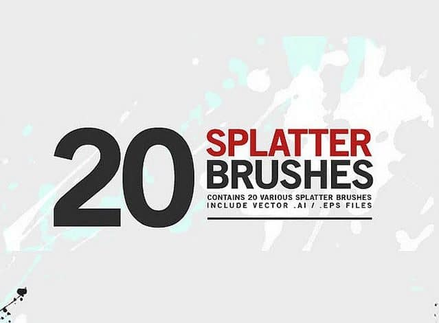 20 Splatter Brushes
