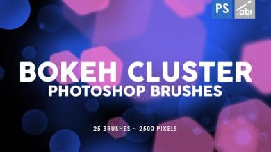 Photo of [Photoshop] 25 Bokeh Cluster Stamp Brushes