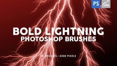 Photo of [Photoshop] 30 Bold Lightning Stamp Brushes