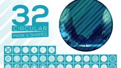Photo of 32 Vector Circular Mask and Shapes