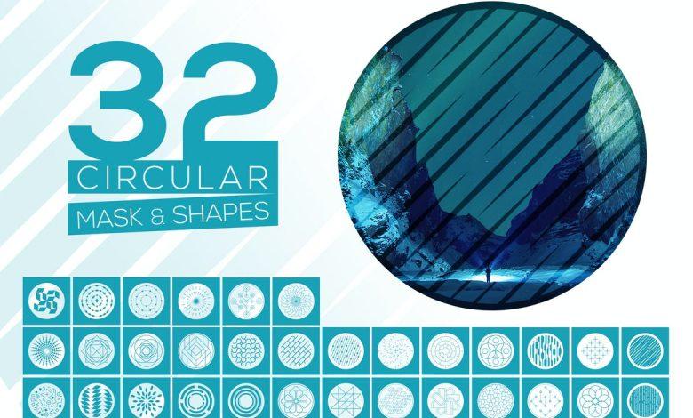 32 Vector Circular Mask & Shapes