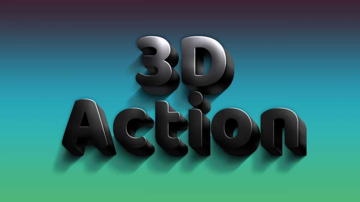 3D Black Photoshop Actions