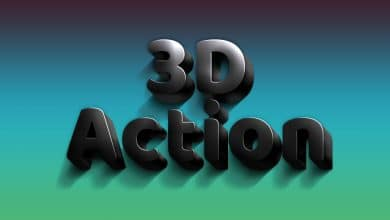 Photo of [Photoshop] 3D Black Action