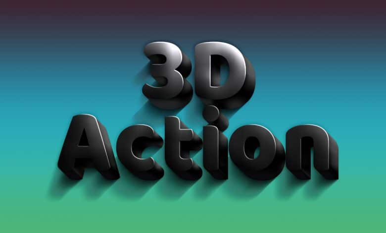 3D Black Photoshop Actions