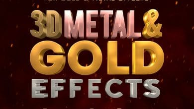 Photo of [Photoshop] 3D Metal and Gold Effects