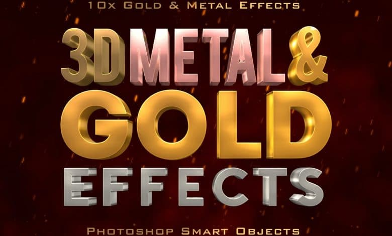 3d-metal-and-gold-effects-for-photoshop