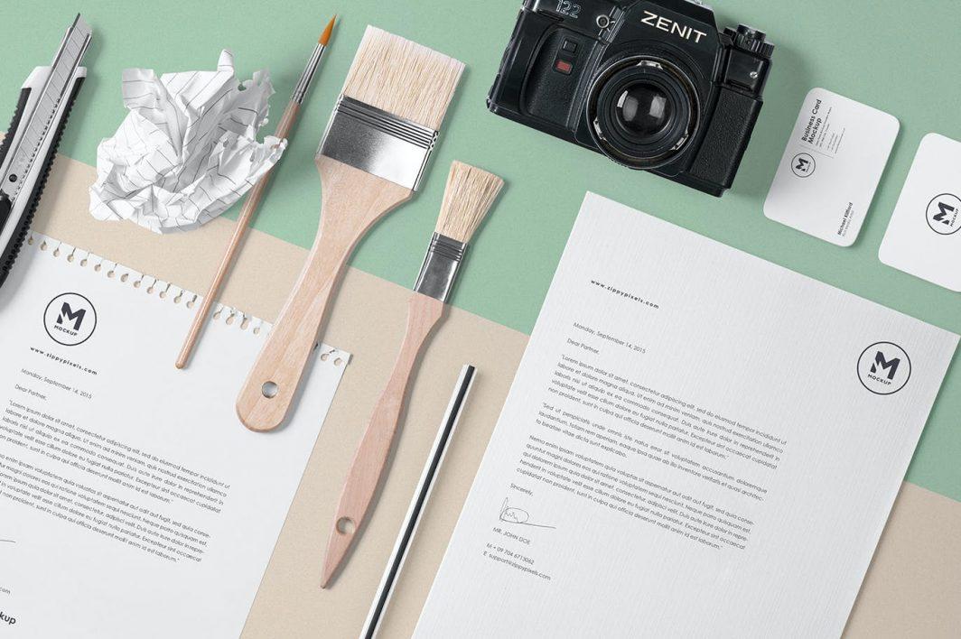 4 Stunning Stationery Mockups Set example 2