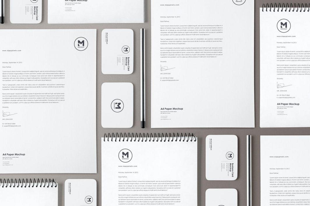 4 Stunning Stationery Mockups Set example 4