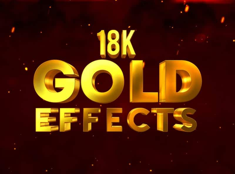 18k Gold effects