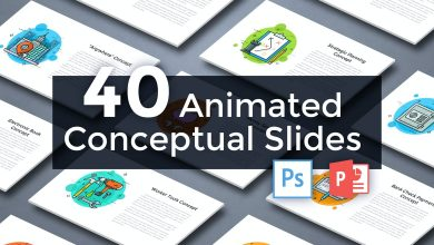 Photo of [PowerPoint] 40 Animated Conceptual Slides