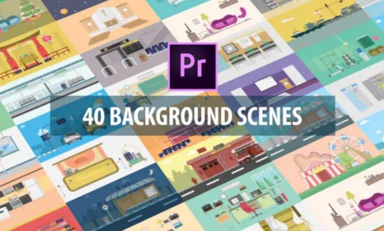 40 Mix Background Scenes for Premiere Pro