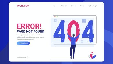 Photo of [Illustrator] 404 Error Page Not Found – Landing Page