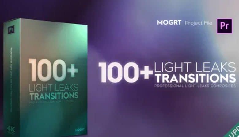 4K Light Leaks Transitions Premiere Pro