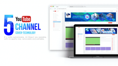 Photo of [Photoshop] 5 Tech Channel – Youtube Banners Template