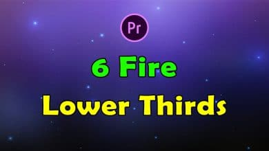 Photo of [Premiere Pro] 6 Fire Lower Thirds