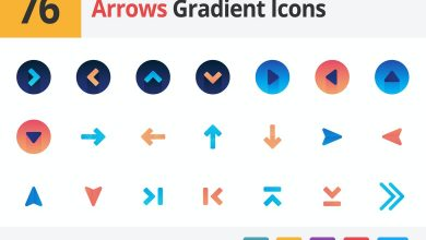 Photo of Arrows Gradient Vector Icons