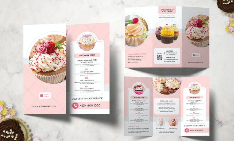 Cake Restaurant Brochure for InDesign
