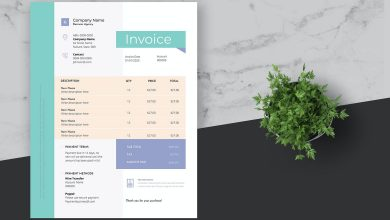 Photo of [InDesign] Clean Blue Business Invoice