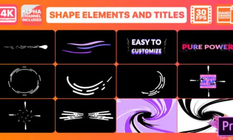 Dynamic Shapes And Titles for Premiere Pro