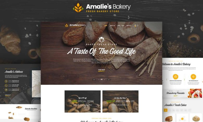 Website Bakery - Onepage PSD Template