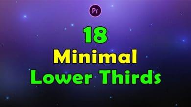 Photo of [Premiere Pro] 18 Minimal Lower Thirds 4K