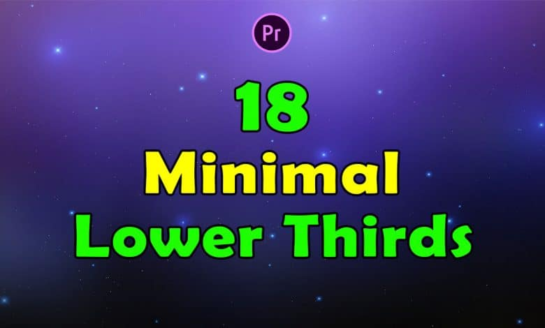 18 Minimal Lower Thirds for premiere Pro