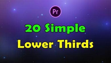 Photo of [Premiere Pro] 20 Simple Lower Thirds