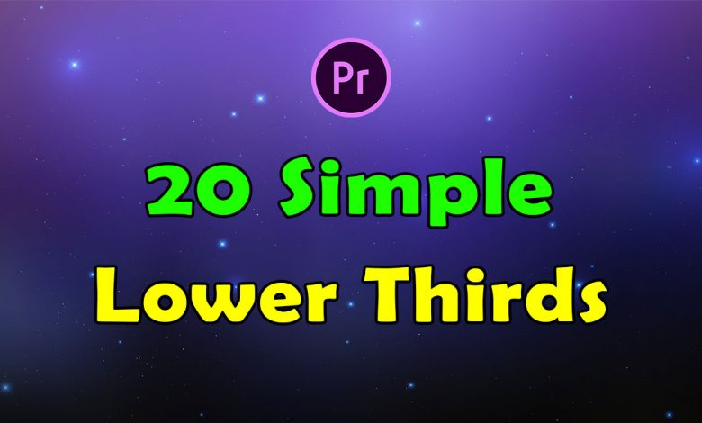 20 Simple Lower Thirds for Premiere Pro