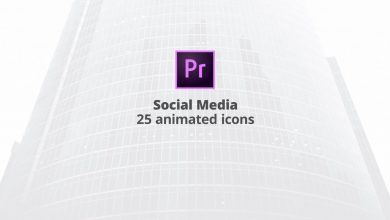 Photo of [Premiere Pro] 25 Social Media Flat Animation Icons