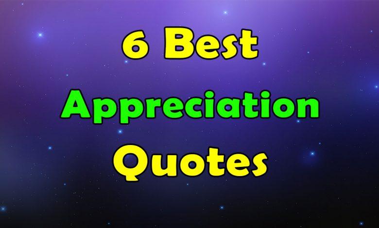 6 Best Appreciation Quotes