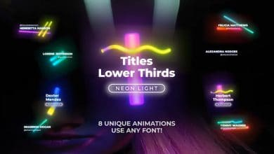 Photo of [Premiere Pro] 8 Neon Light Lower Thirds and Titles Pack 1