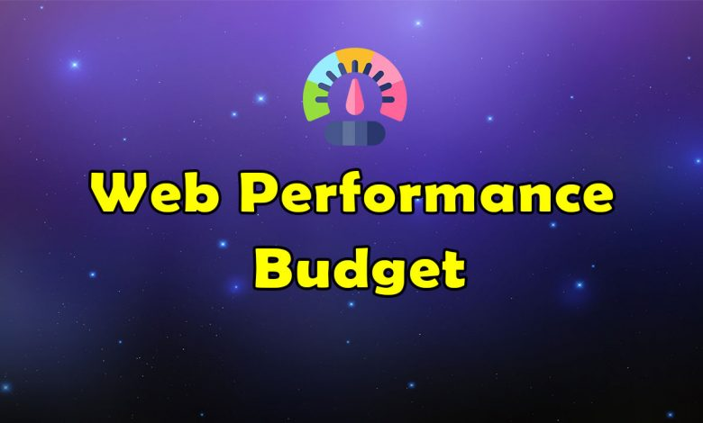 Awesome Web Performance Budget Resources List