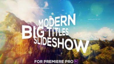Photo of [Premiere Pro] Big Titles Slideshow