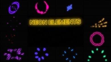 Photo of [Premiere Pro] 12 Neon Elements