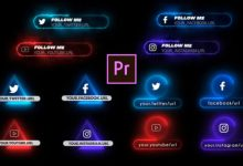 Photo of [Premiere Pro] Neon Social Media Lower Thirds