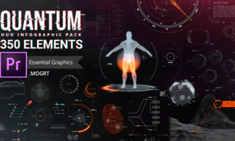 Quantum Hud and HiTeck Elements for Premiere Pro