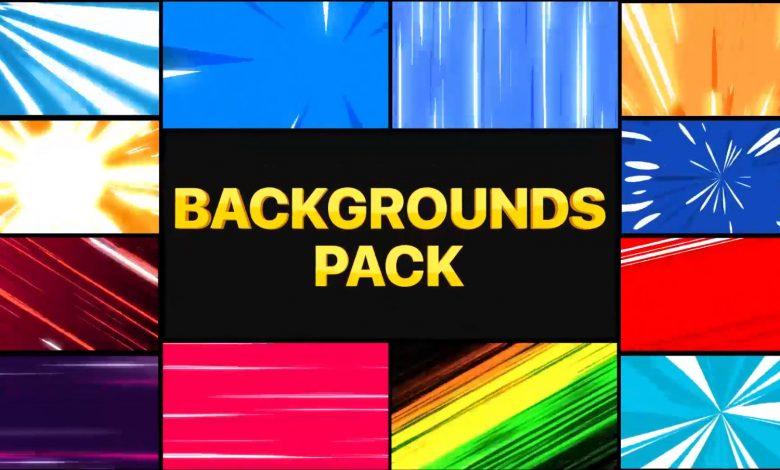 Speedlines Backgrounds for Premiere Pro