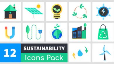 Photo of [Premiere Pro] 12 Sustainability Icons Pack