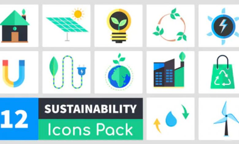 Sustainability Icons Pack for Premiere Pro