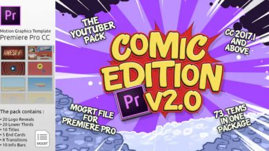 Photo of [Premiere Pro] The YouTuber Pack Comic Edition V2