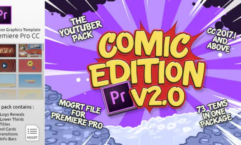 The YouTuber Pack Comic Edition V2 for Premiere Pro