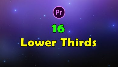 Photo of 16 Lower Thirds for Premiere Pro and After Effects