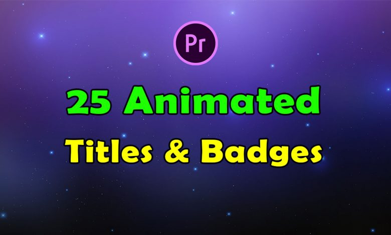 25 Animated Titles and Badges and Lables