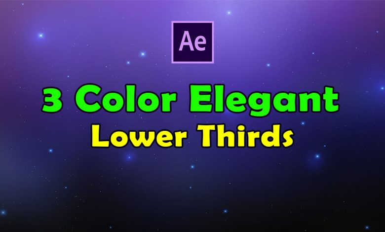 3 Color Elegant Lower Thirds for After Effects