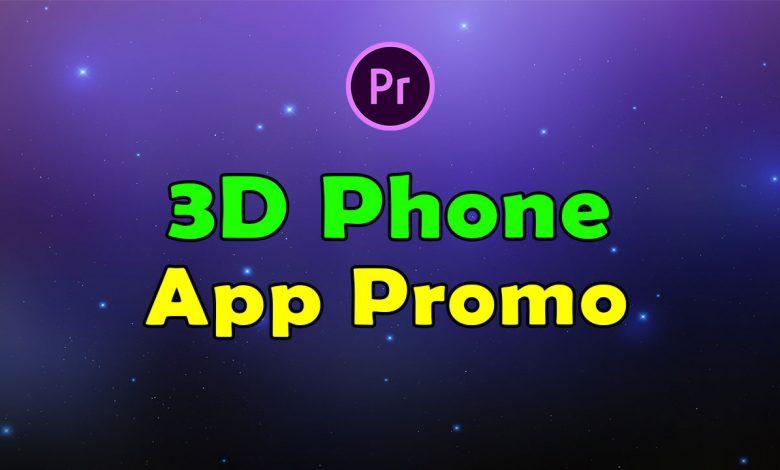 3D Phone App Promo for Premiere Pro
