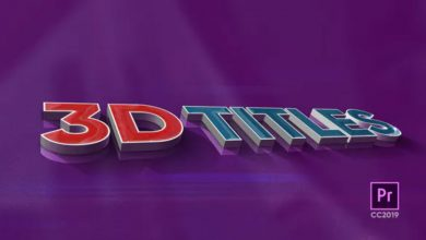 Photo of [Premiere Pro] 3D Titles
